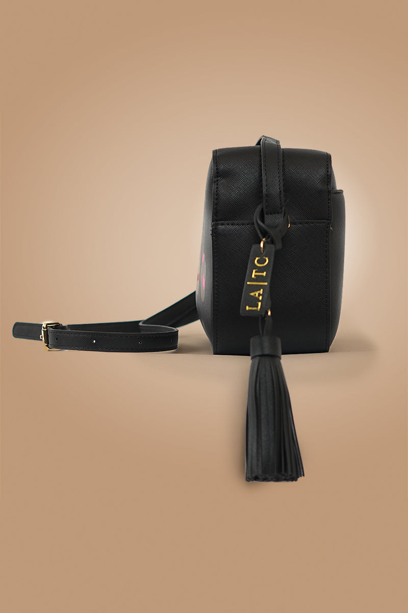 VEGAN CROSSBODY BAG - Fluent Italian - Black