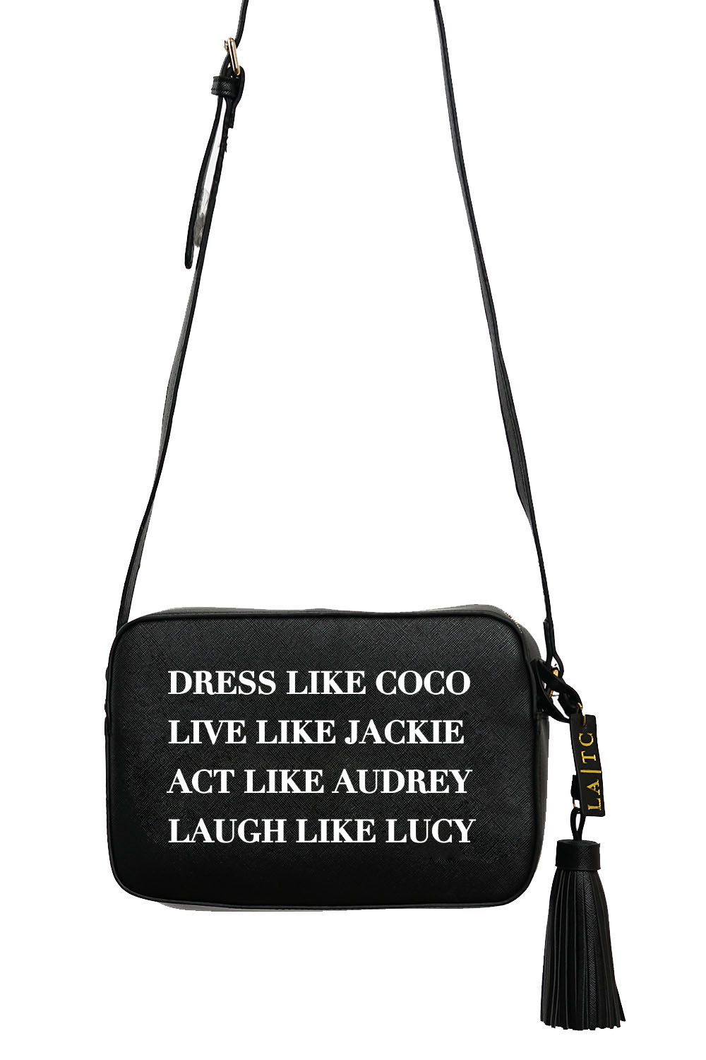 VEGAN CROSSBODY BAG - Dress Like Coco (Black)