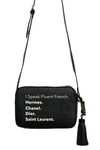 VEGAN CROSSBODY BAG - Rollin With The Homies (Black)