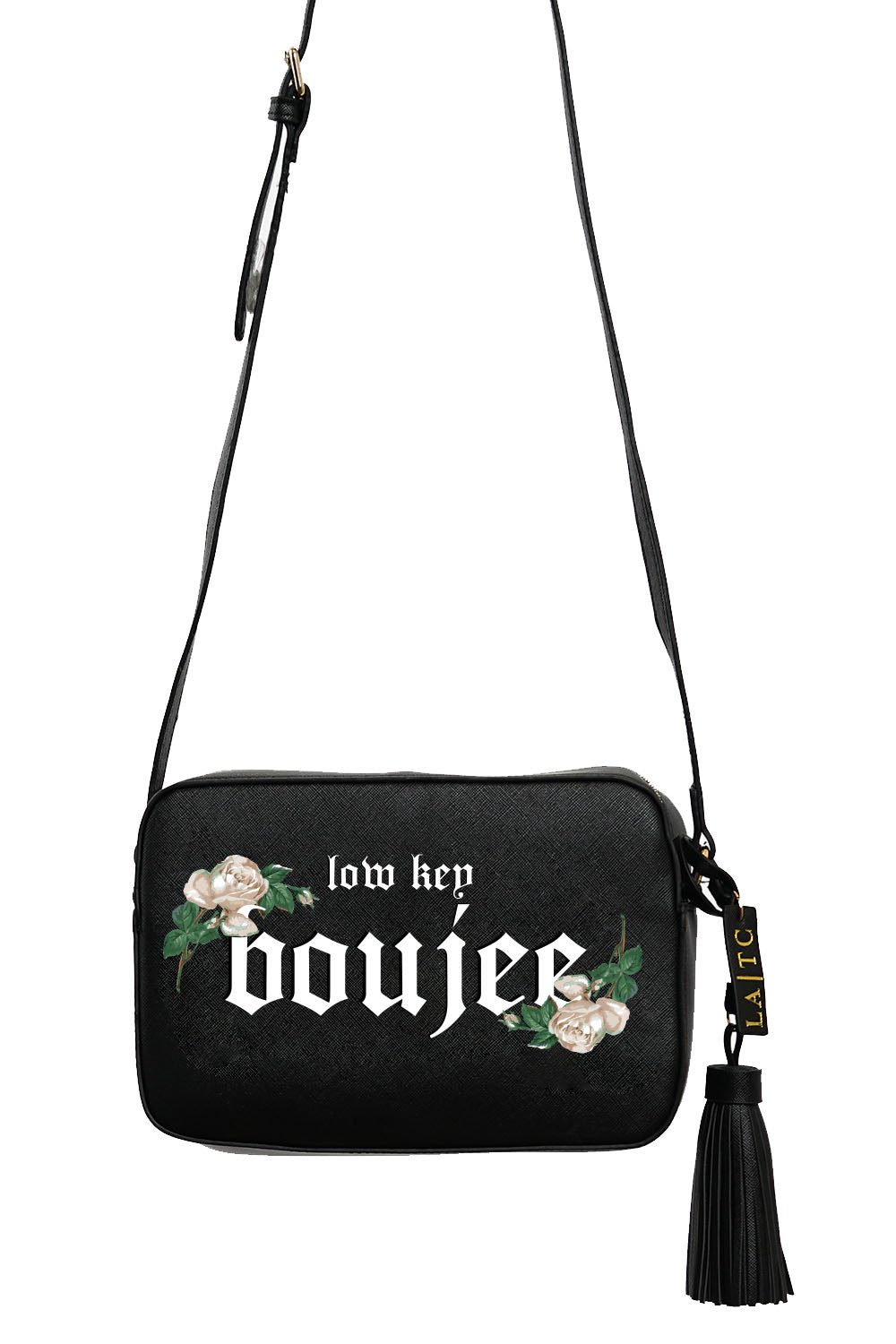 VEGAN CROSSBODY BAG - Low Key Boujee (Black)