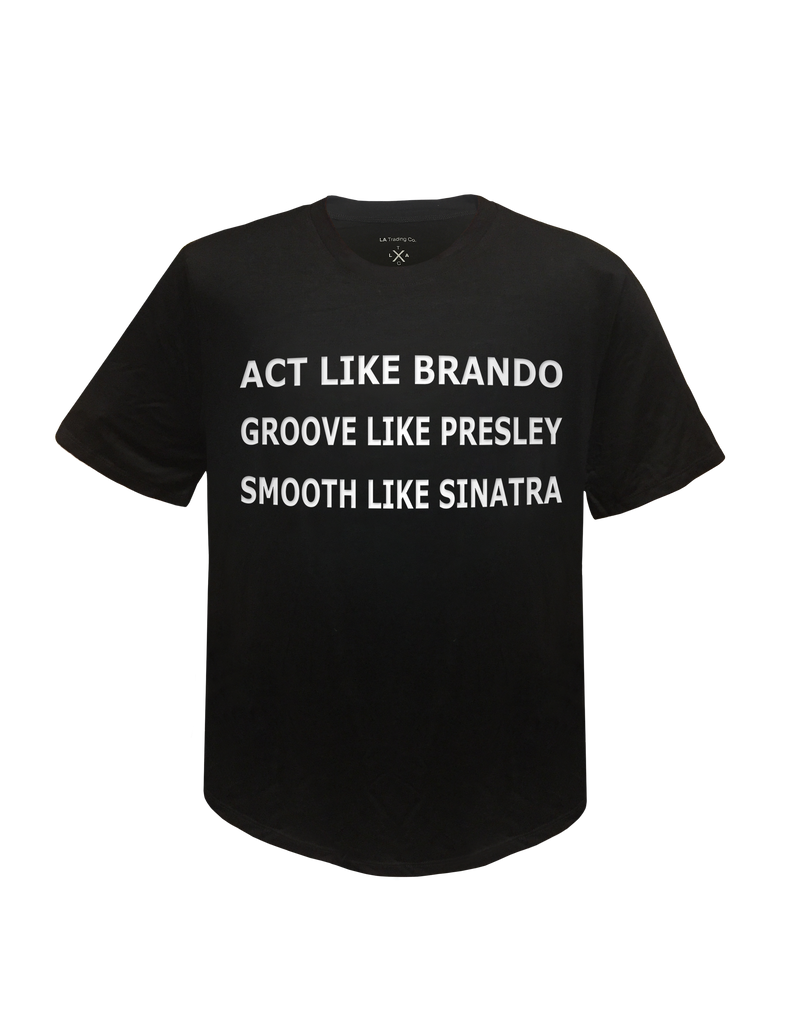 MENS TEE - Act like Brando (Black)