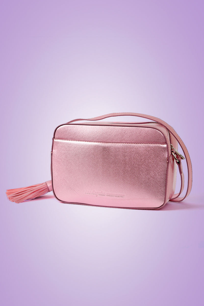 VEGAN CROSSBODY BAG - Fluent French (Pink)