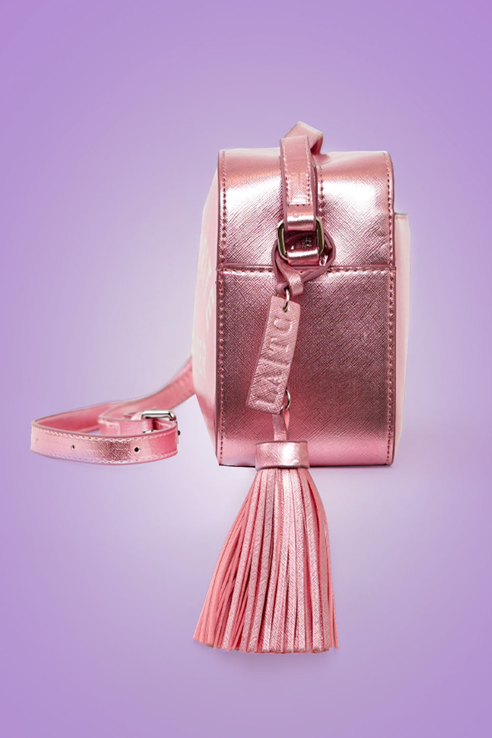 VEGAN CROSSBODY BAG - Dress Like Coco (Pink)
