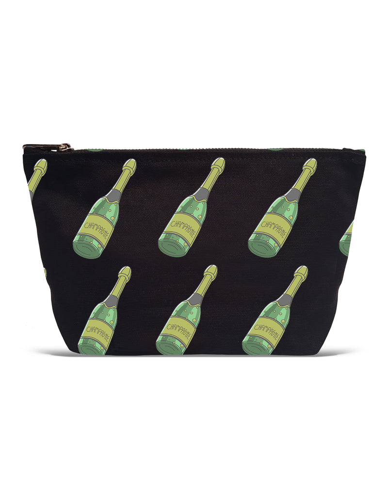 POUCH - Champagne Bottle All Over Pattern