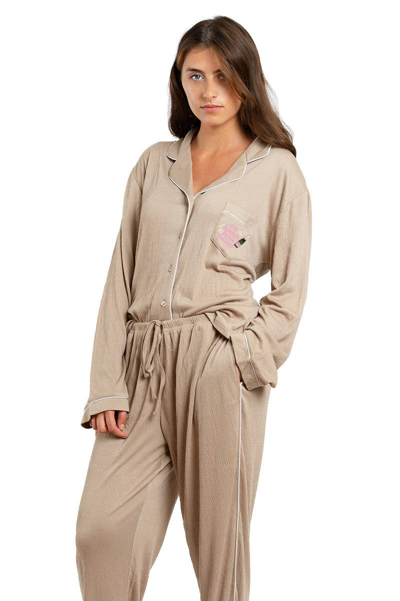 LUXE CRÈPE THERMAL PJ SET- All Bubbles