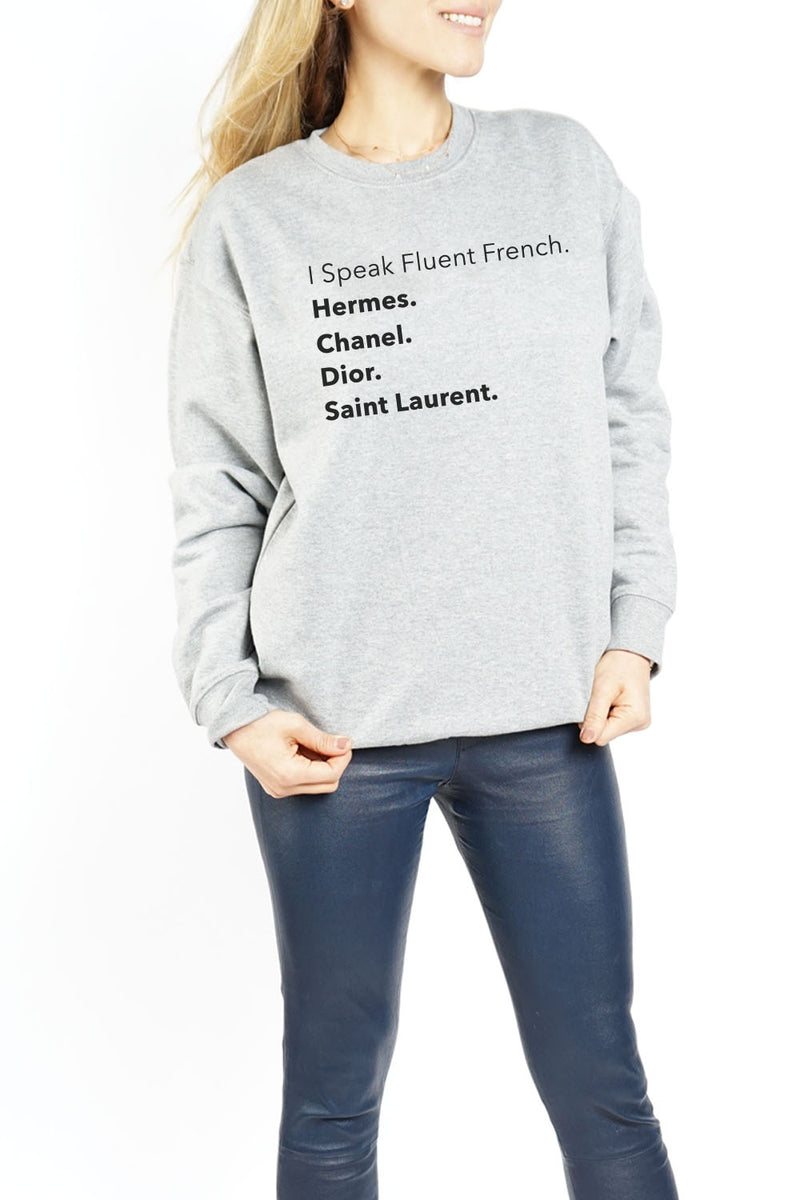 WOMEN'S CREWNECK - Fluent French