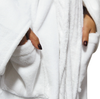 LUXE PLUSH ROBE WHITE- Best Dad In The World