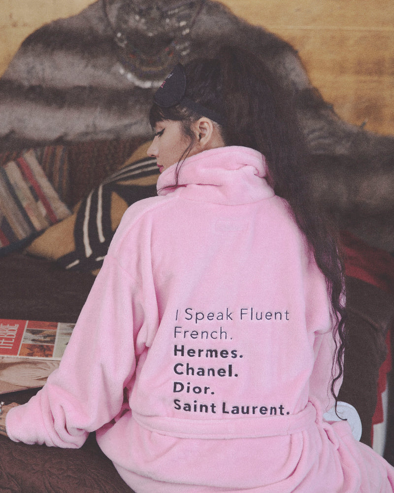 Pink Robe- Fluent French