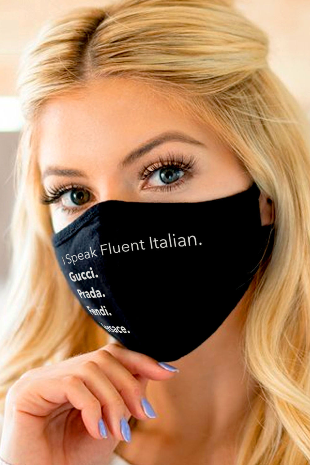 Face Mask- I Speak Fluent Italian