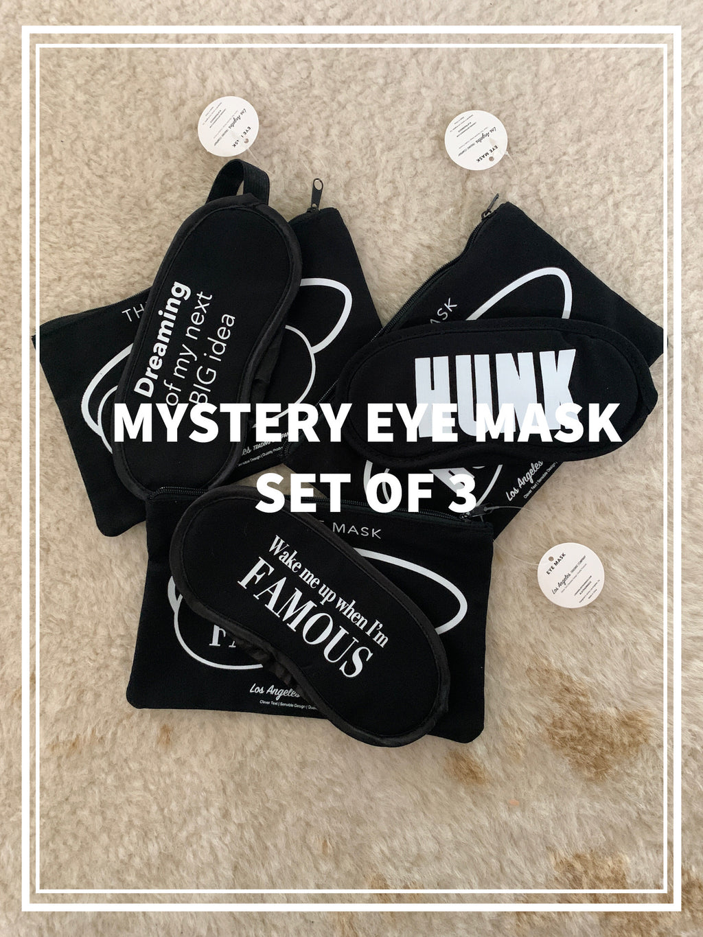 MYSTERY EYE MASK -  Set Of 3