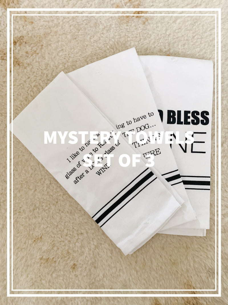 MYSTERY TOWEL SET OF 3
