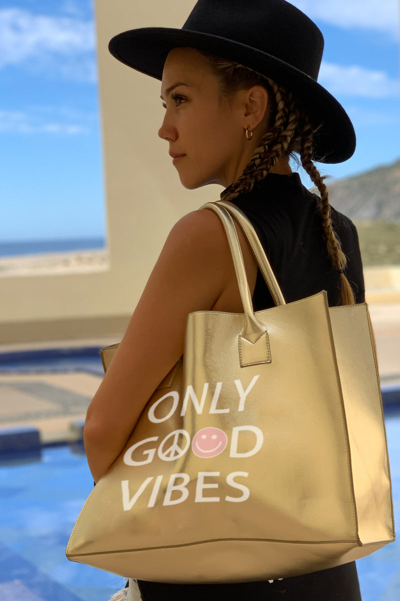 MODERN VEGAN TOTE - Only Good Vibes