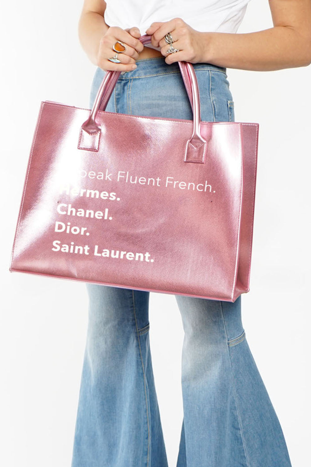 MODERN VEGAN TOTE - Fluent French (Pink)