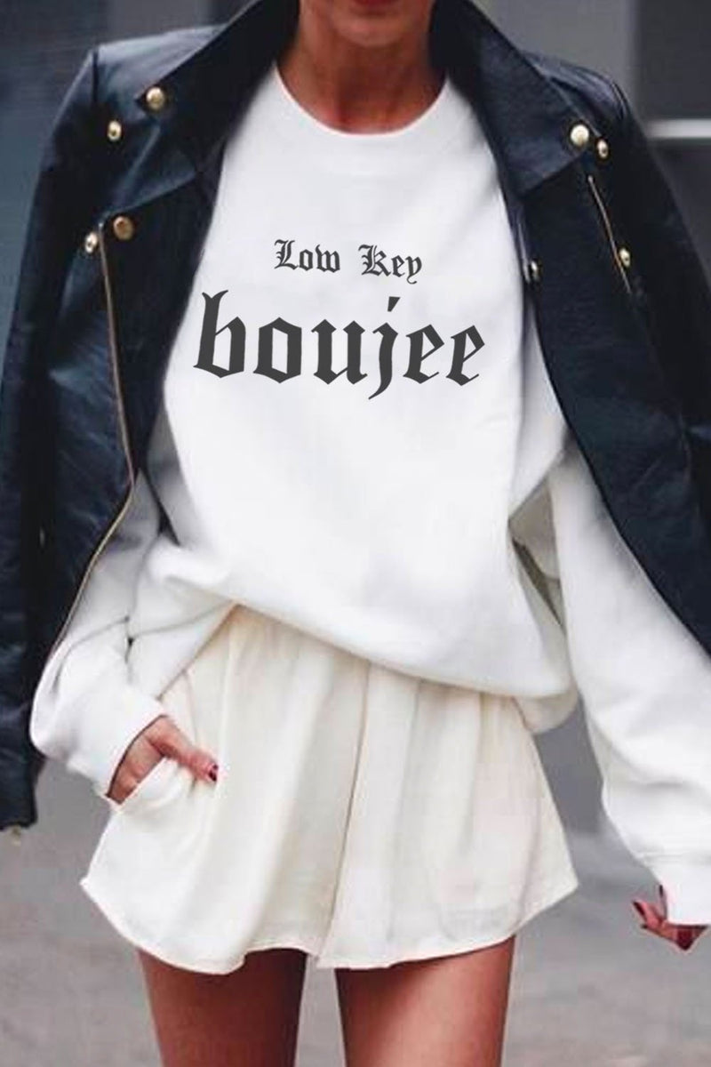 CREWNECK - Low Key Boujee