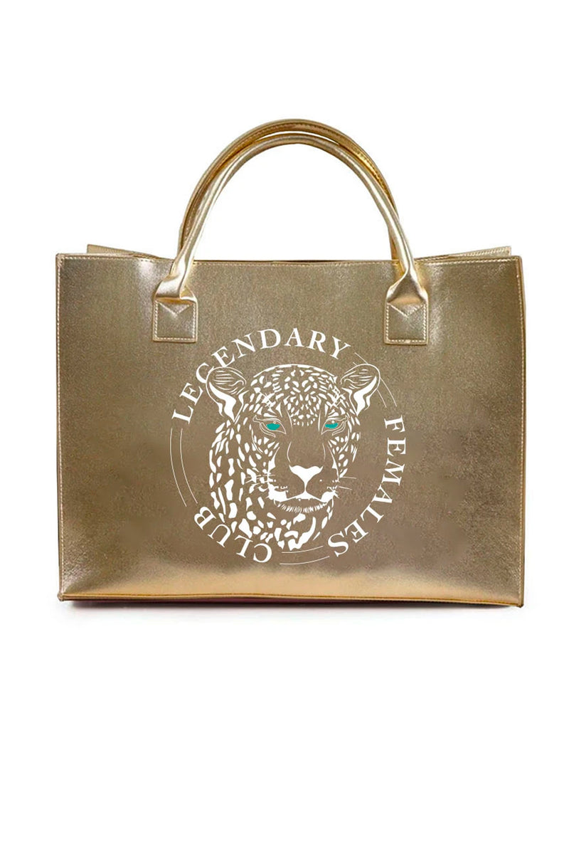 MODERN VEGAN TOTE - Legendary Female (Gold)