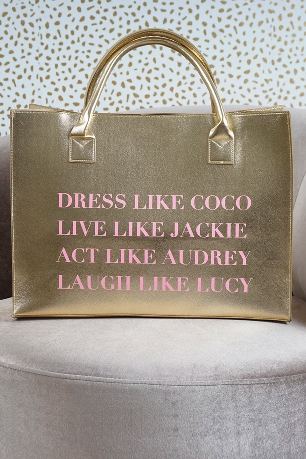 MODERN VEGAN TOTE - Dress Like Coco (Gold)