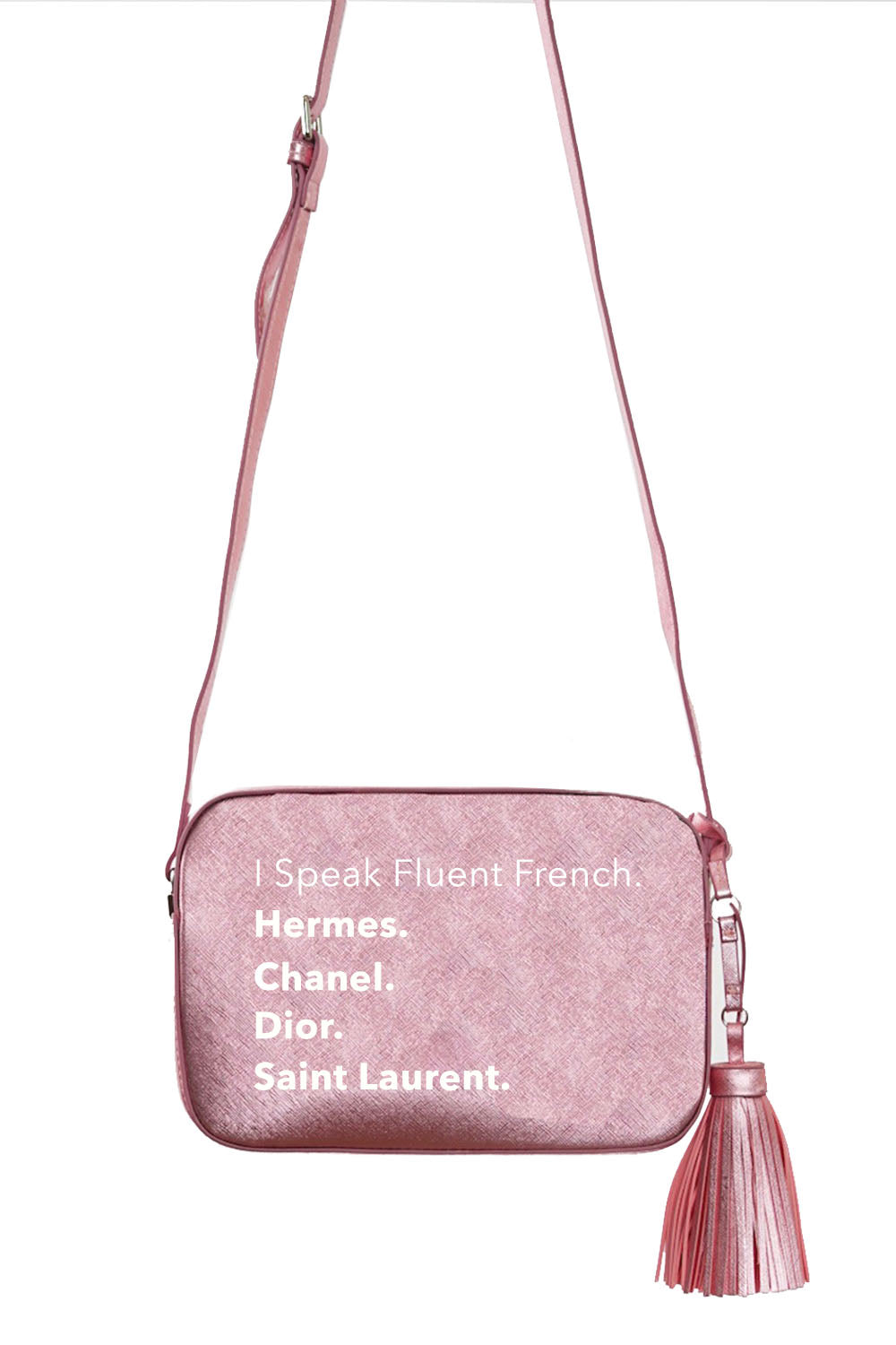 VEGAN CROSSBODY BAG - Fluent French - Pink