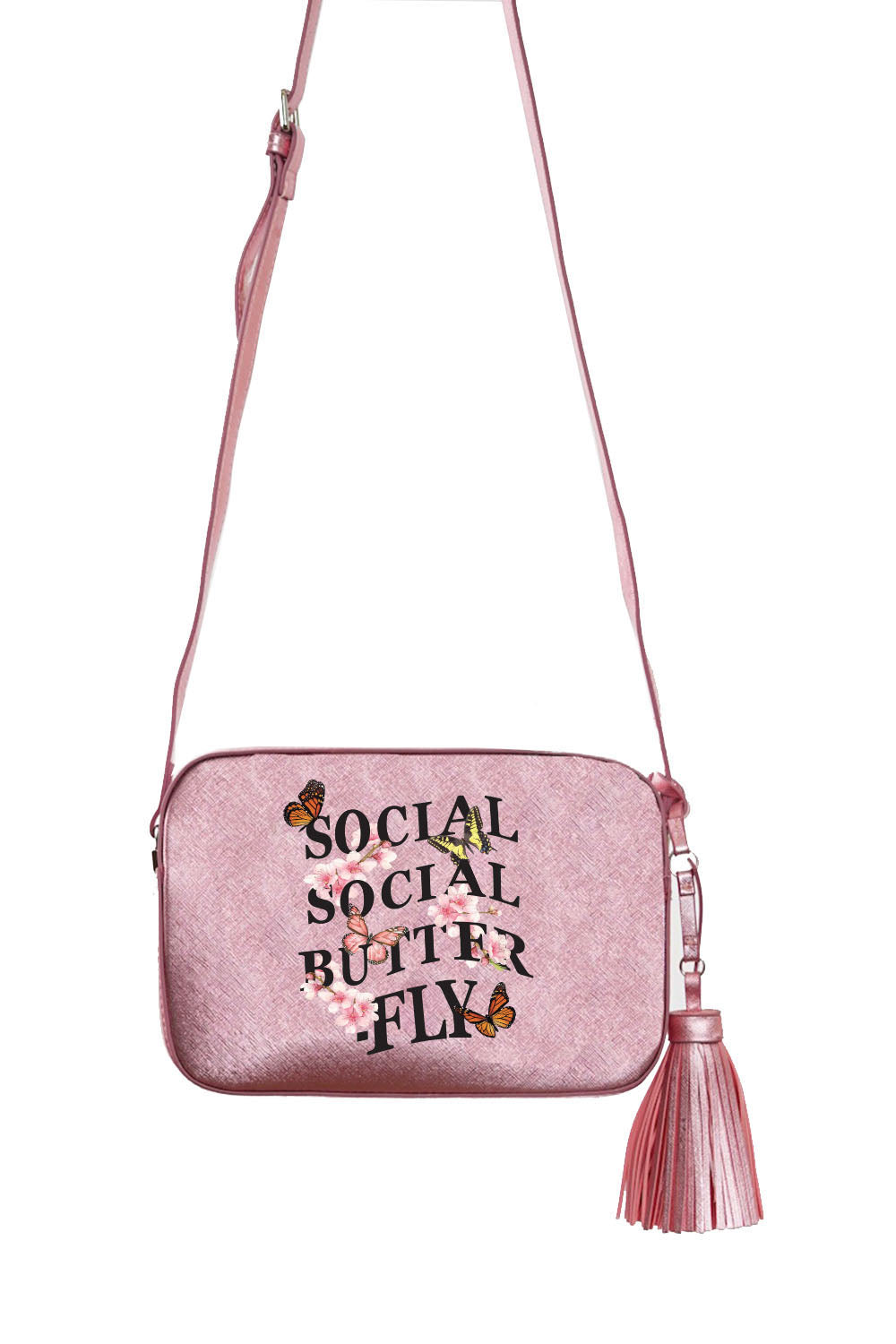 VEGAN CROSSBODY BAG - Social Social Butterfly