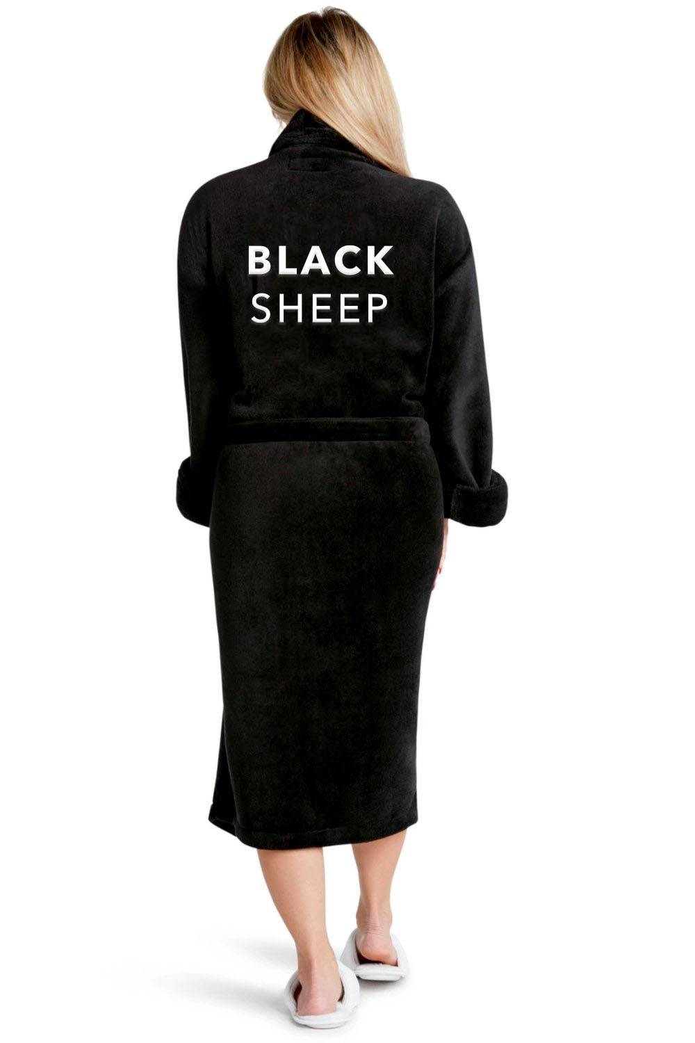 Luxe Plush Robe - Black Sheep