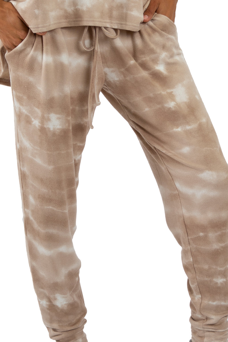 CLOUD JOGGER - Taupe Tie Dye