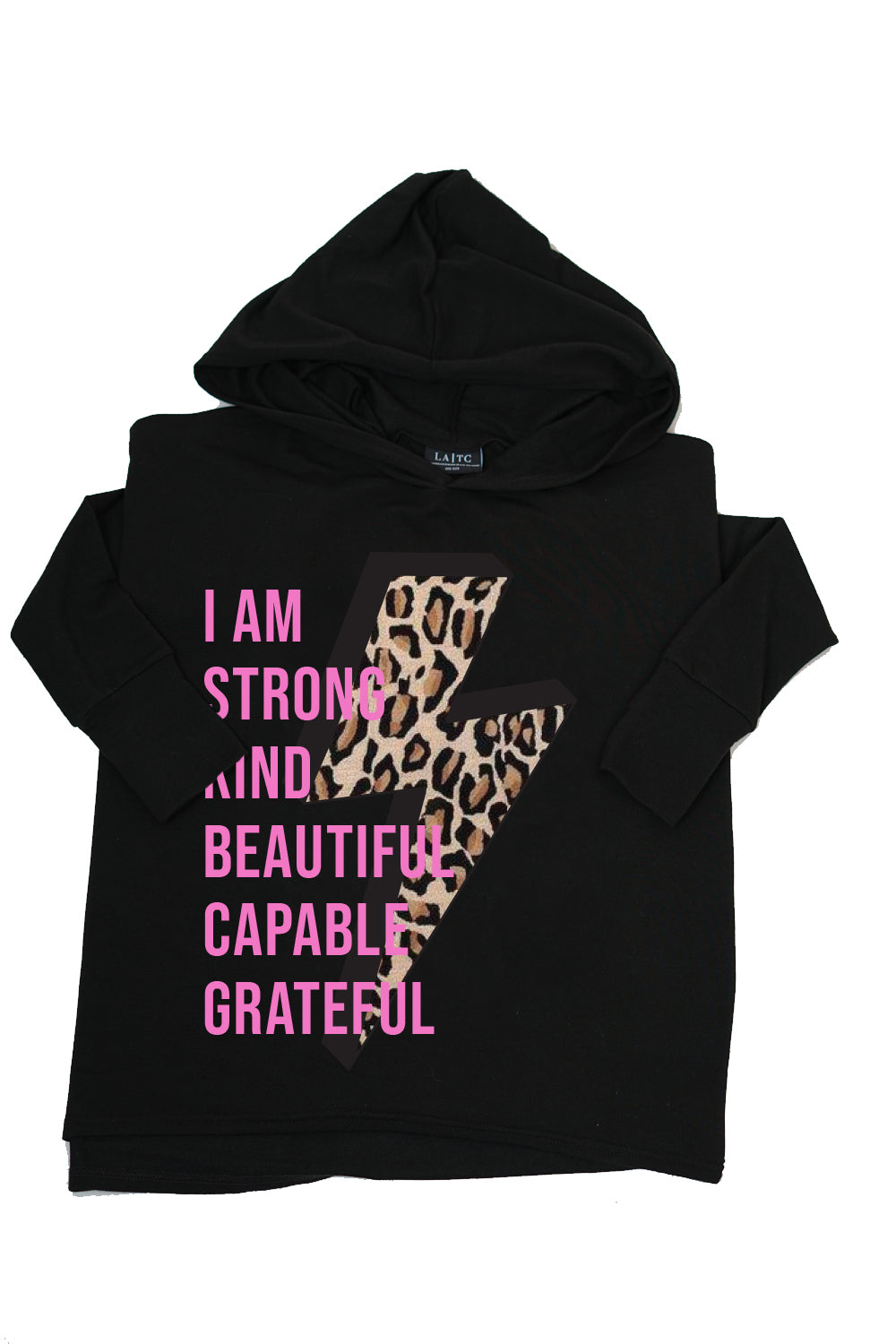 PRISCILLA PONCHO - I am Strong Kind Beautiful Capable Grateful