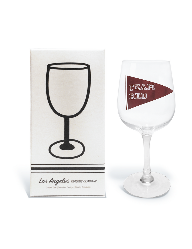 Wine Glass- Team Red