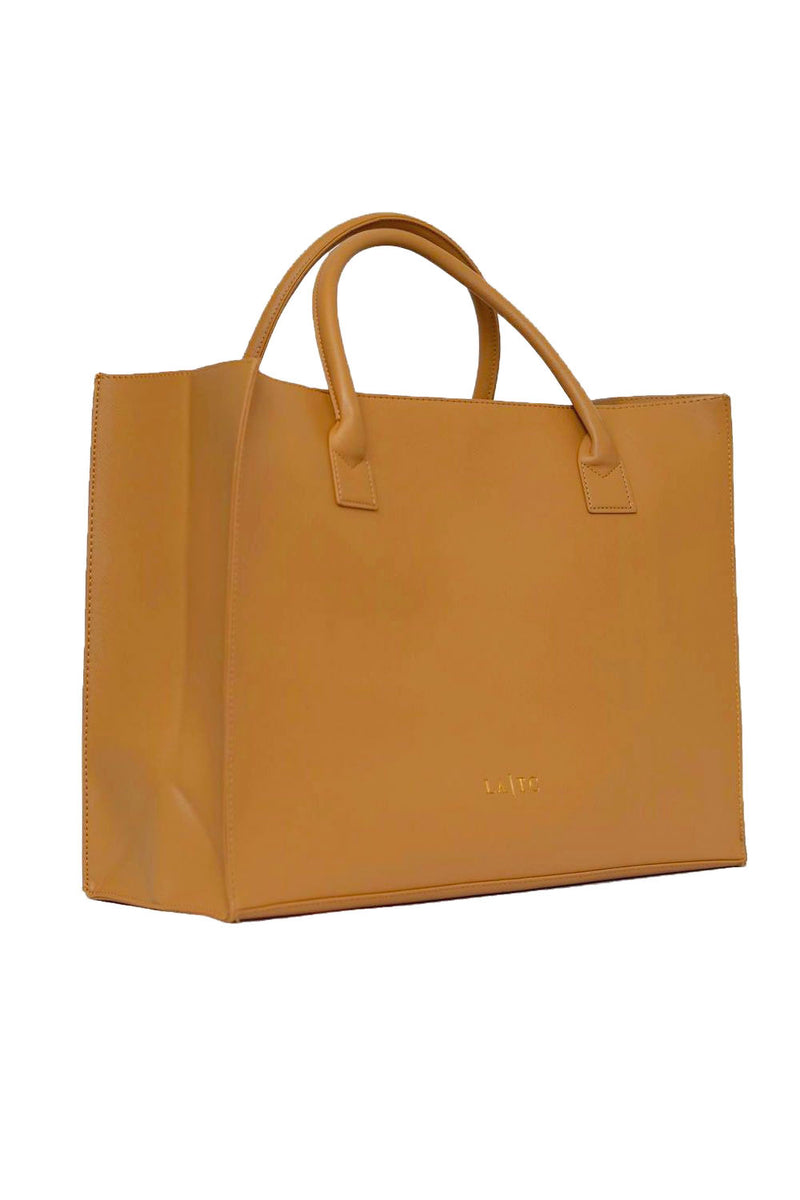 MODERN VEGAN TOTE - Fluent French (Tan)