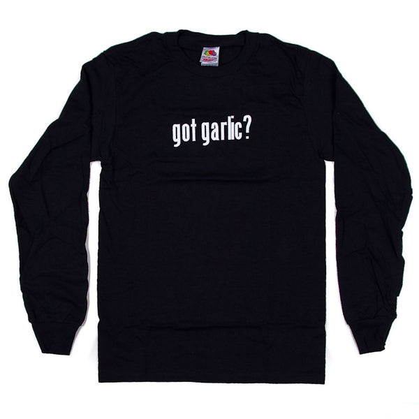 Got Garlic? Long Sleeve, Black
