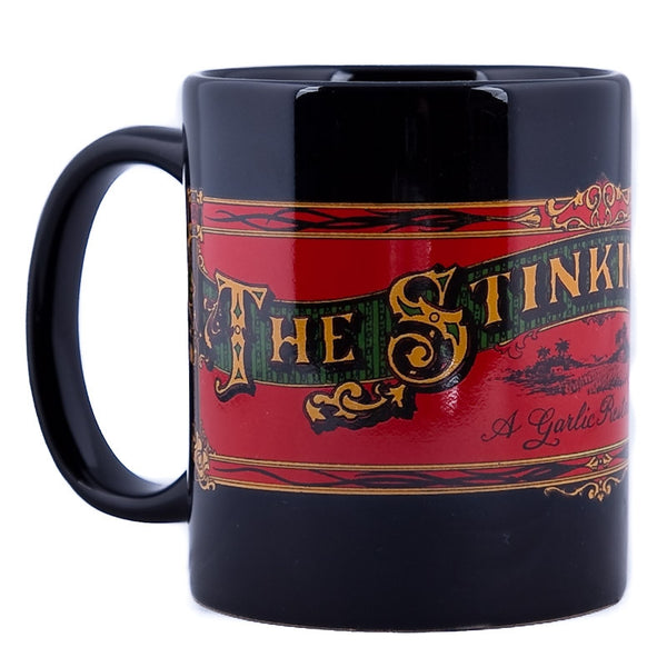 The Stinking Rose Logo Black Mug