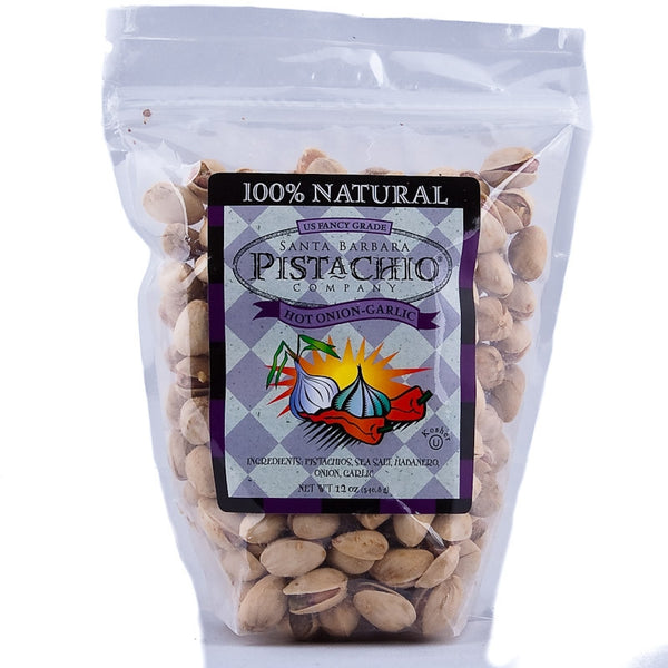 Santa Barbara Company Hot Onion Garlic Pistachios