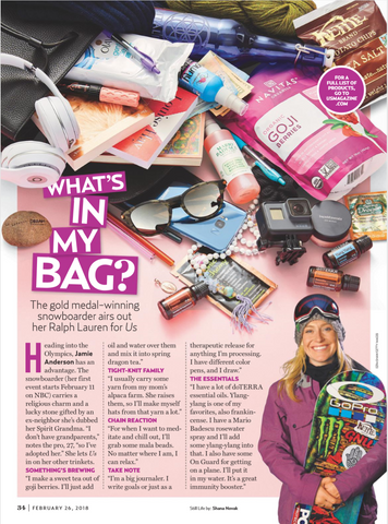 What's in Jamie Anderson's Bag