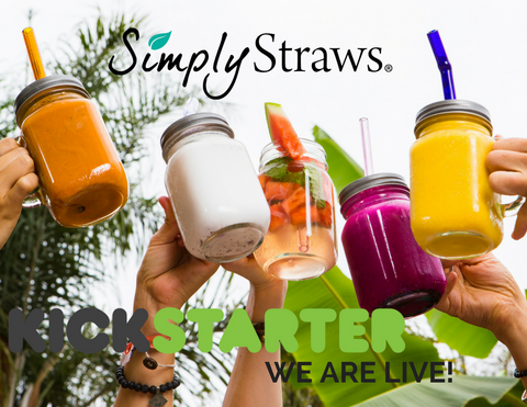 5 mason mugs, reusable glass straws, smoothie