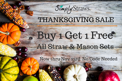 Happy Thanksgiving From Simply Straws