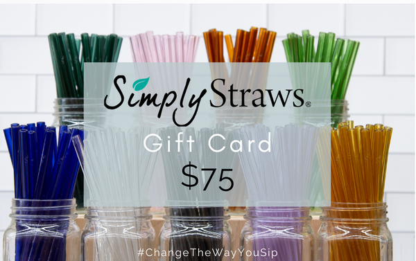 "BUILD YOUR OWN - 8"" CLASSIC TWIN SET - 1 STRAIGHT + 1 BENT CLASSIC GLASS STRAWS + BRUSH - Simply Straws"