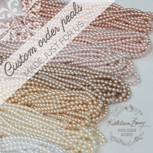 Classic pearl necklace - Assorted pearl colors retinue gift (Prices vary due to clasp options)