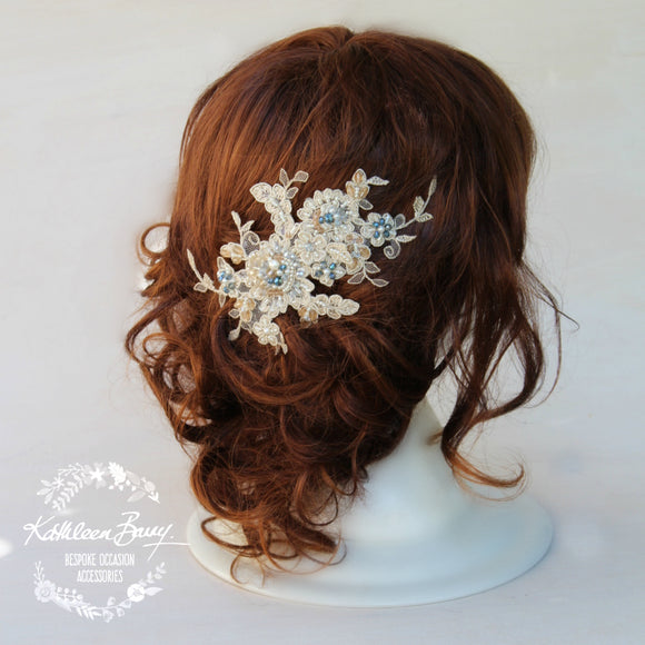Athena Lace Embellished Hair Clip - Color Options Available