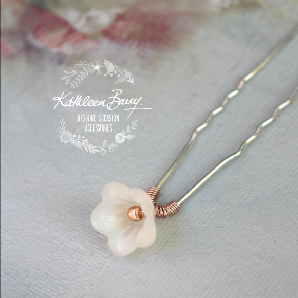 Dainty flower girl pins - Rose gold, silver or gold plated available