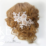 Ciara Lace bridal hairpiece clip  - Lace, pearl and metallics (optional) colors available