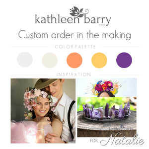 Custom order flower crown for Natalie