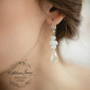 Candice crystal drop earrings - assorted colors on check out