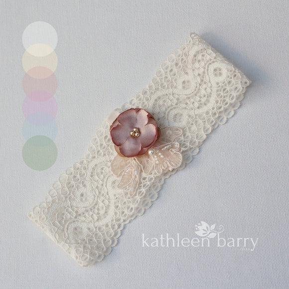 Ginny Garter dusty pink ivory blush - assorted colors available