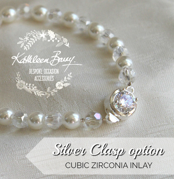 Eva Pearl Bracelet - pearl color options Available