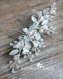 Freya Floral Spray Crystal, Pearl & Rhinestone Comb - Color options available