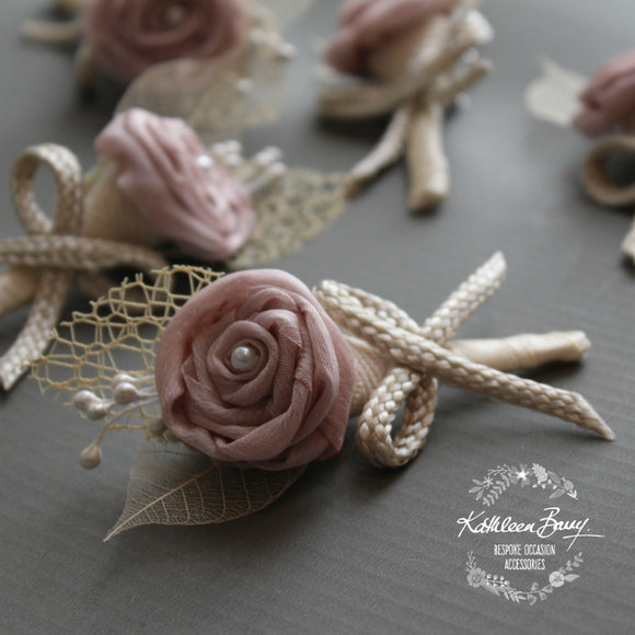 Boutonniere or corsage - lapel pin groom - color options available - everlasting