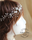 Jennifer bridal wreath, wedding hair wreath hair accessory - hair vine, crown