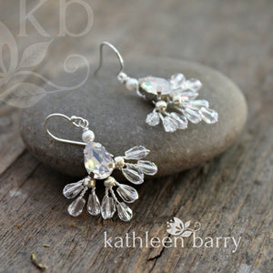 Kosuke earrings - Clear opalescent - Gold, silver or rose gold