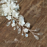 Karyn hair vine pin in hairpiece leaf crystal detailing assorted colors available