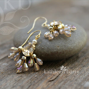 Kosuke earrings - champagne - Gold, silver or rose gold