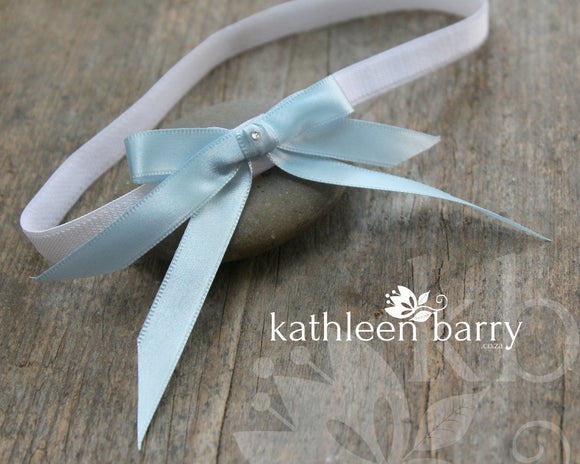 Kristin Bridal tossing garter - assorted colors available, satin bow something blue