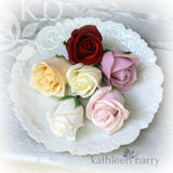 Boutonniere - groom lapel pin roses - Everlasting - assorted colors available